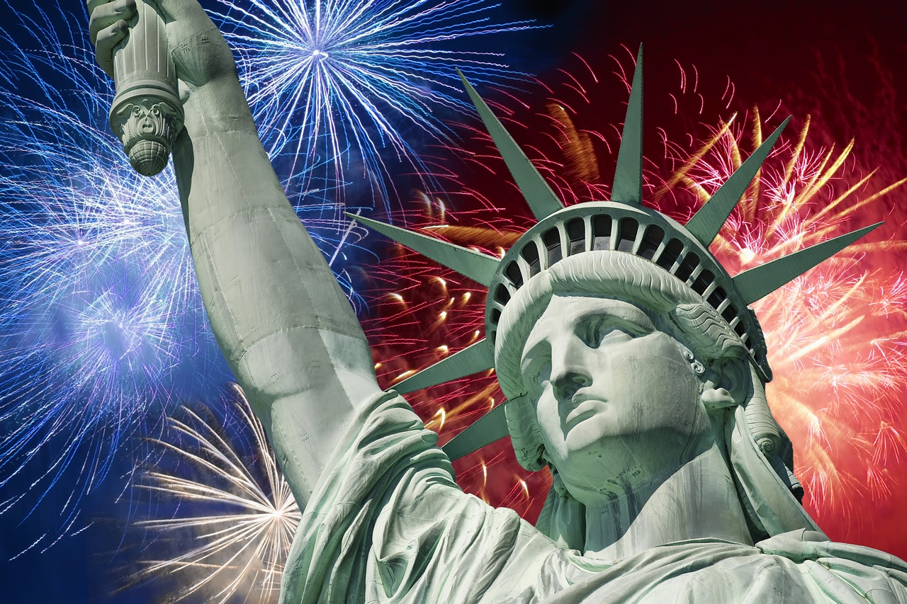 Fourth of July liberty