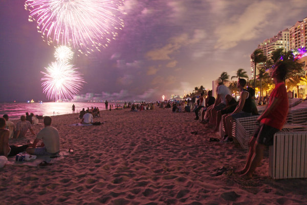 Miami Beach fireworks 4th july