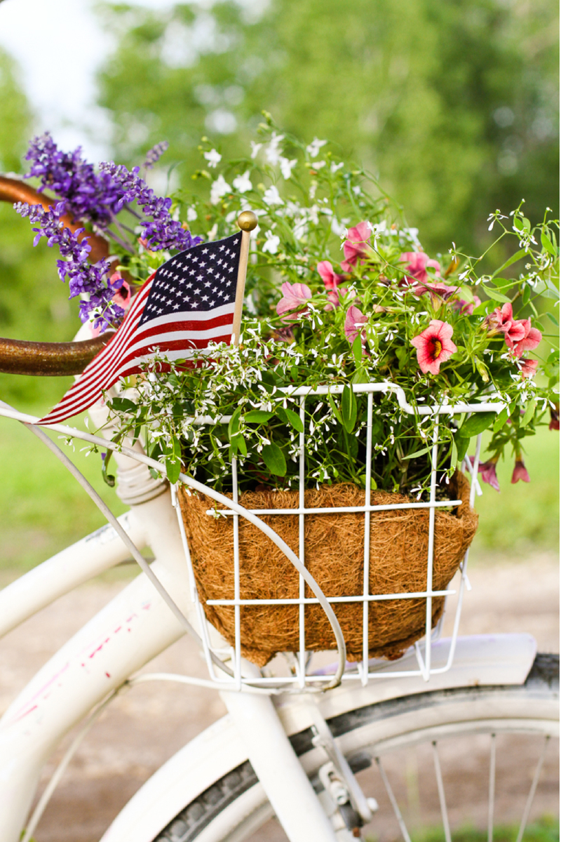 4th July Flowers Baskets 02