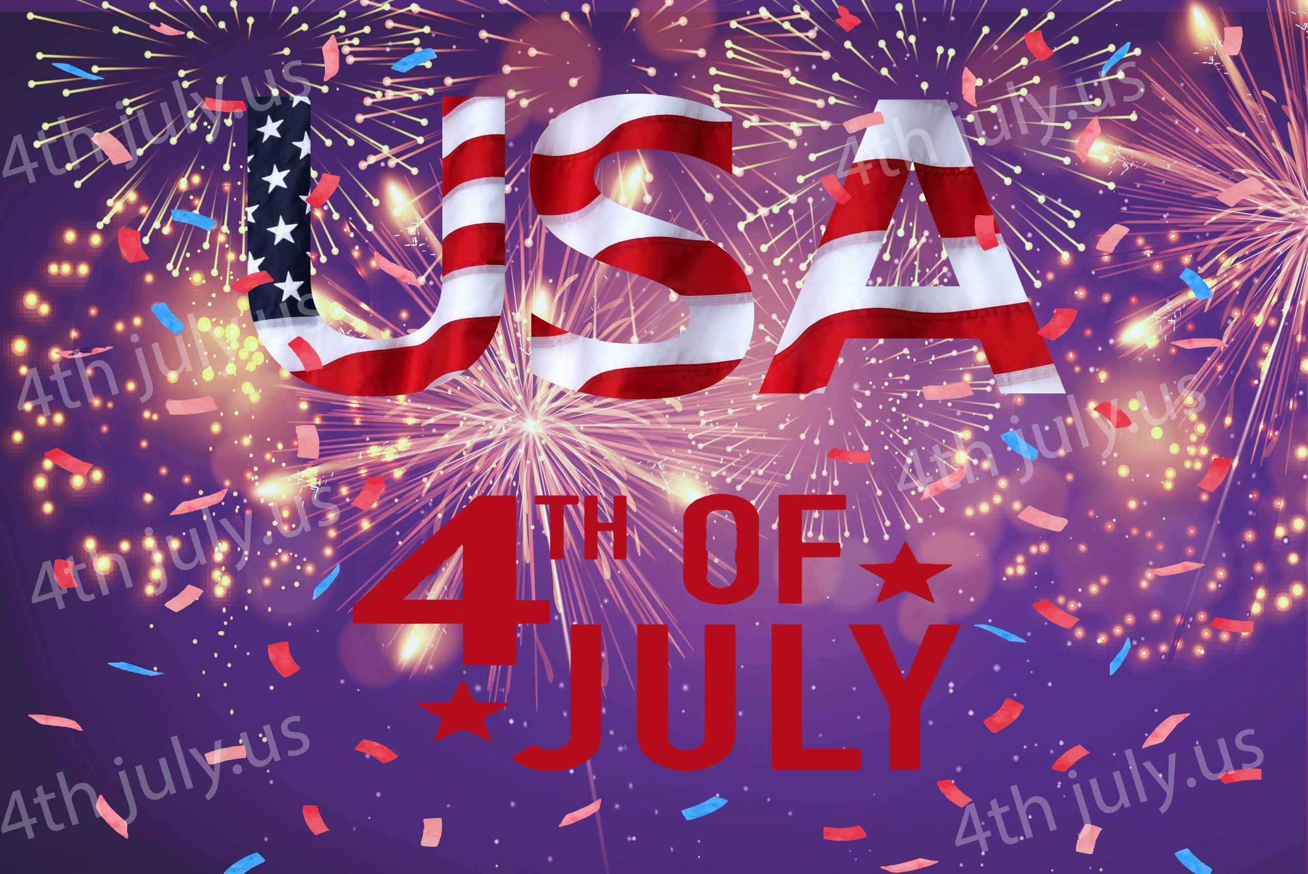 4th of July fireworks wallpaper